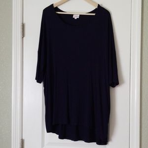 LuLaroe 2XL ribbed navy blue Irma